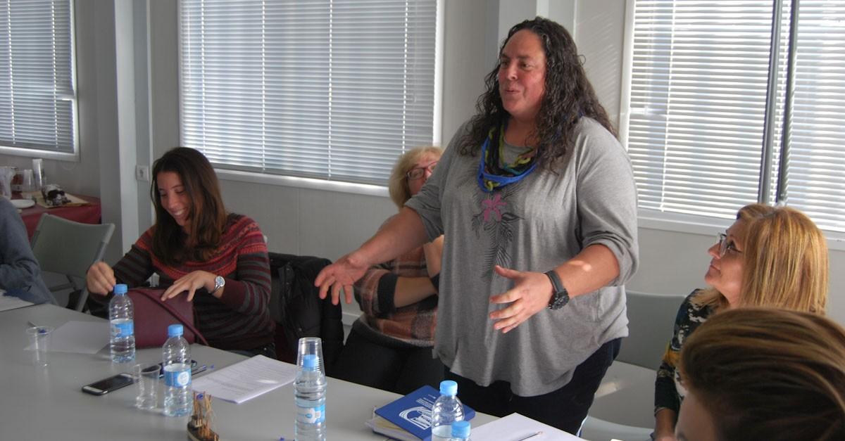 Maribel Cera en la seua reelecció com a presidenta de l'Associació Catalana de Dones de la Mar