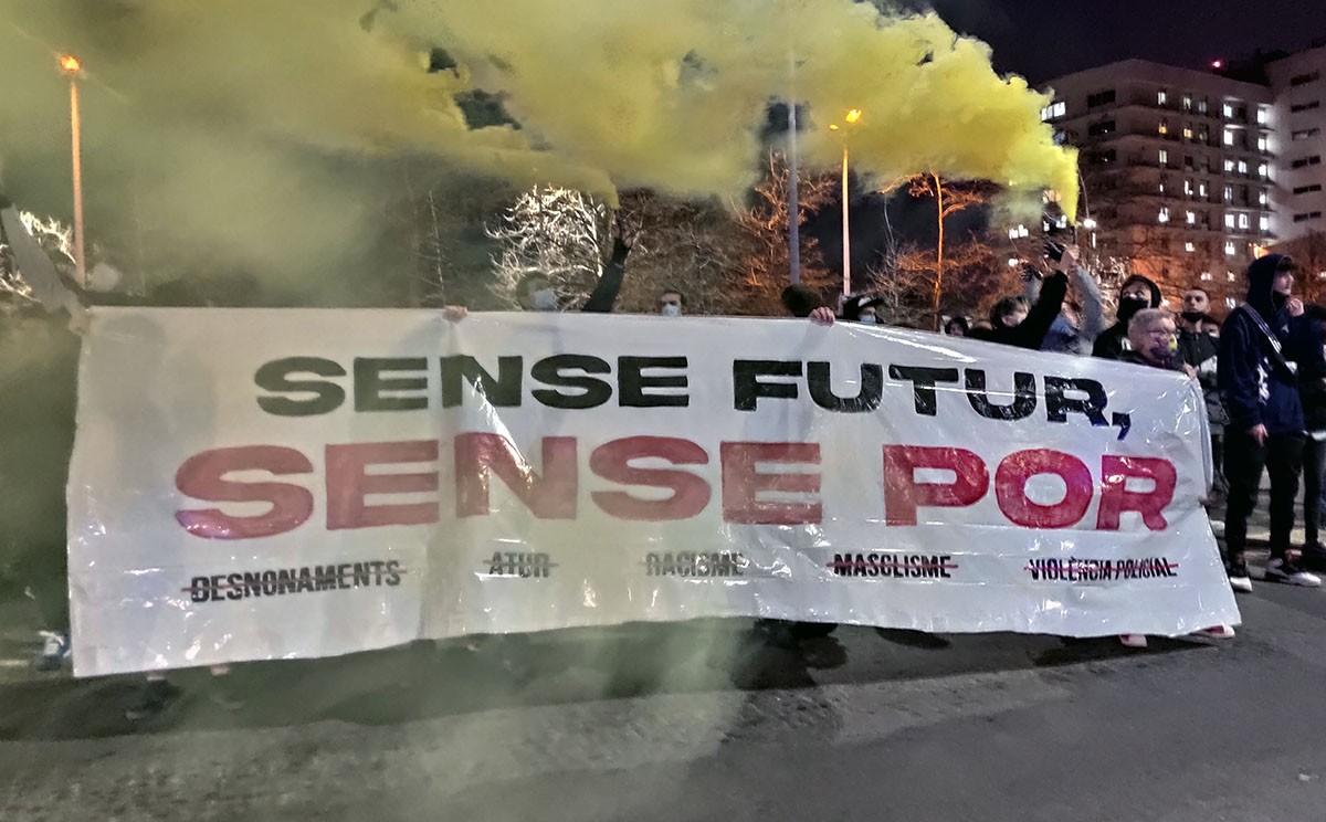 La pancarta que ha encapçalat la manifestació