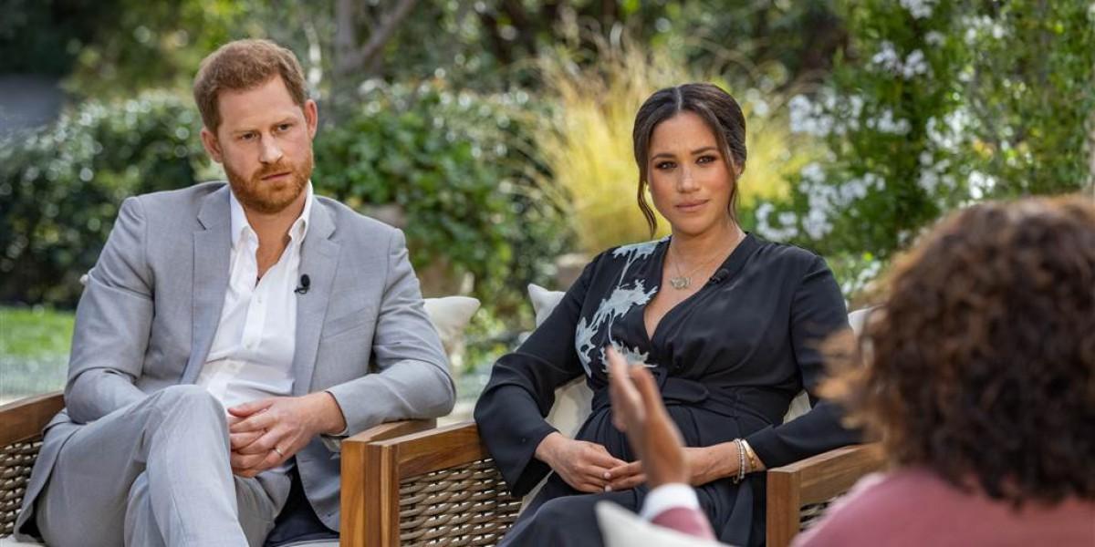 Meghan i Harry, durant l'entrevista