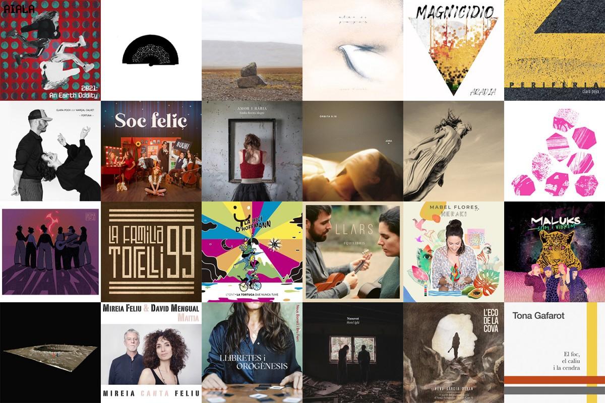 25 portades de discos de dones artistes