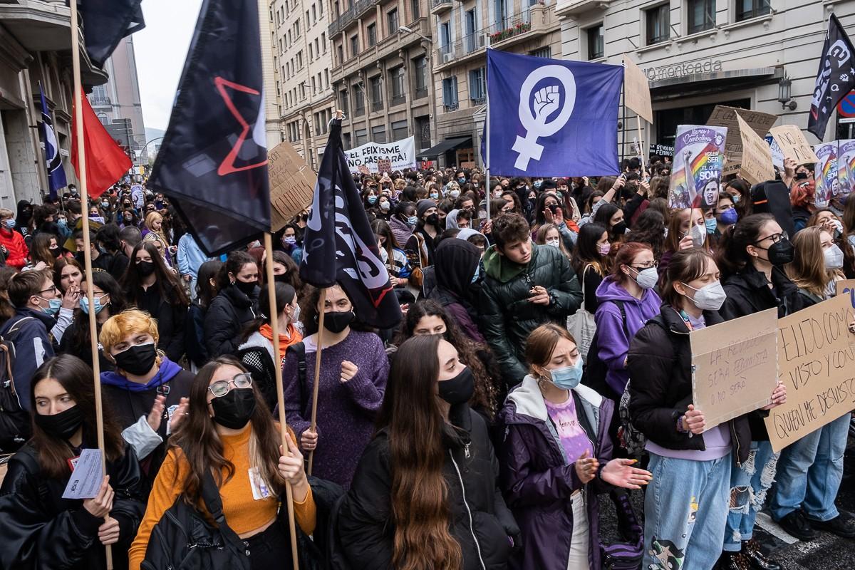 Manifestació del 8-M a Barcelona.