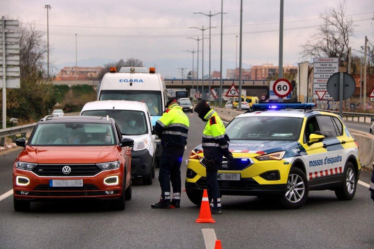 Control de carretera dels Mossos.