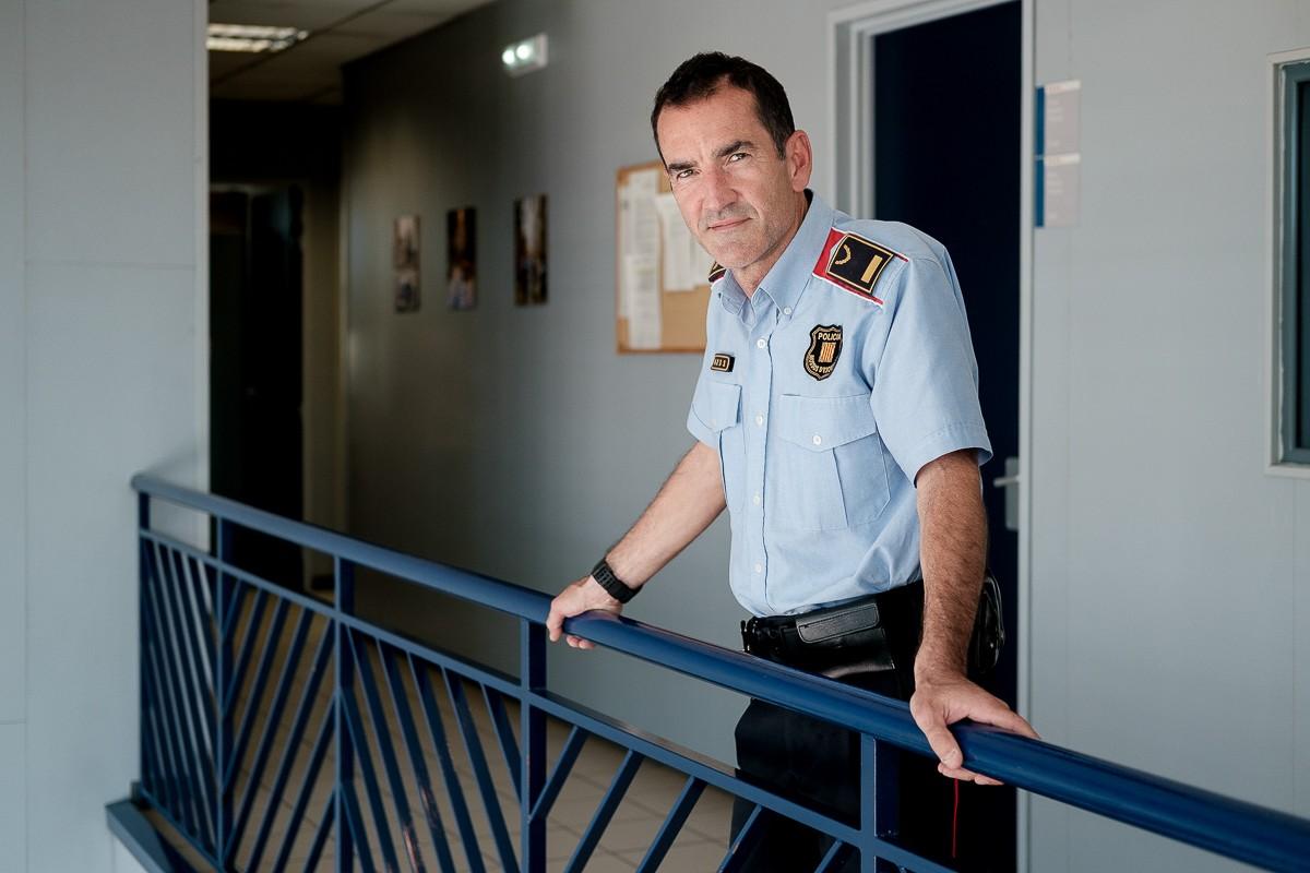 Joan Salamaña, cap de l'Àrea Bàsica Policial d'Osona, també era a la comissaria el dia dels aldarulls