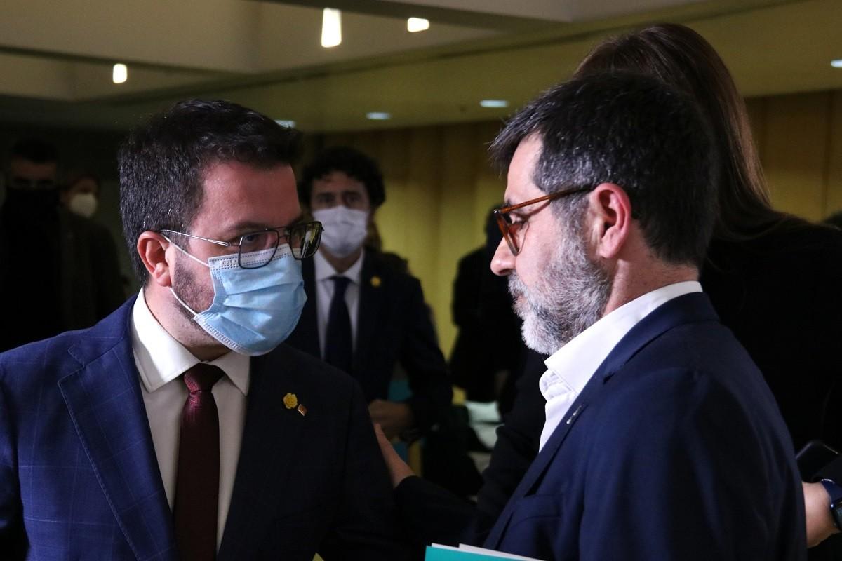 Jordi Sànchez i Pere Aragonès, en una imatge d'arxiu.