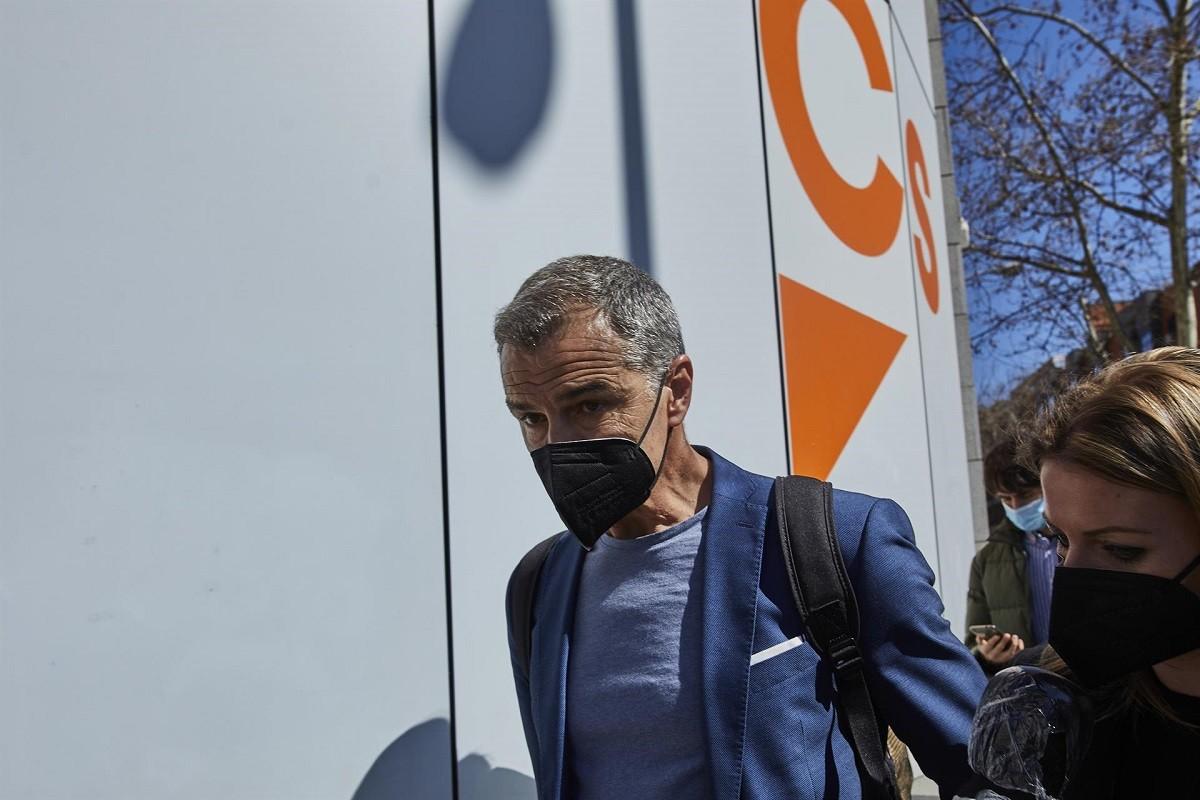 Toni Cantó, en dimitir de l'executiva de Ciutadans.