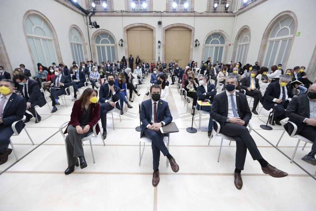 L'auditori del Parlament, durant el debat d'investidura.
