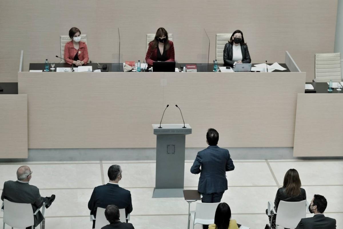 Pere Aragonès, durant el debat d'investidura.
