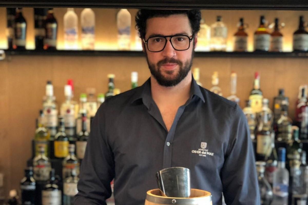 David Navarro, head bartender del restaurant Bages 964 de l'Oller del Mas