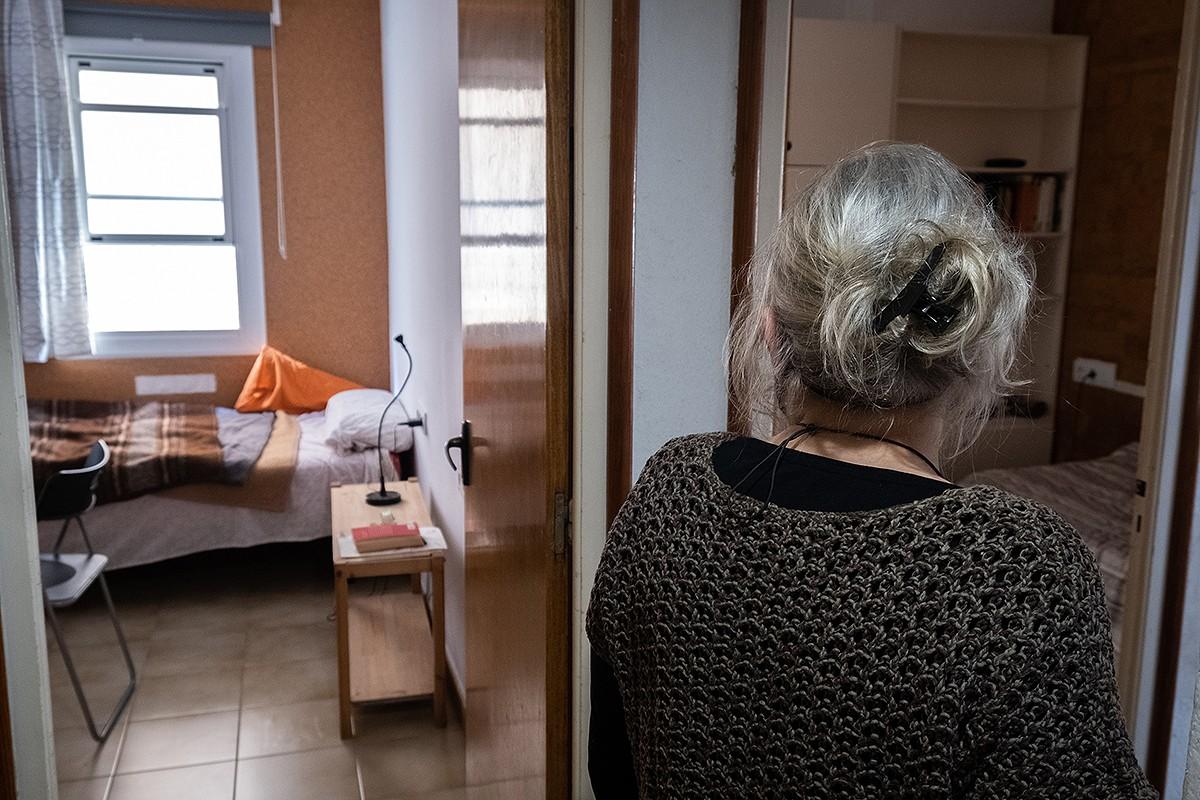 Una de les habitacions que lloga la Joana a Barcelona
