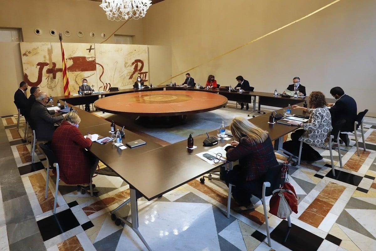 Reunió del consell executiu celebrada aquest dimarts.