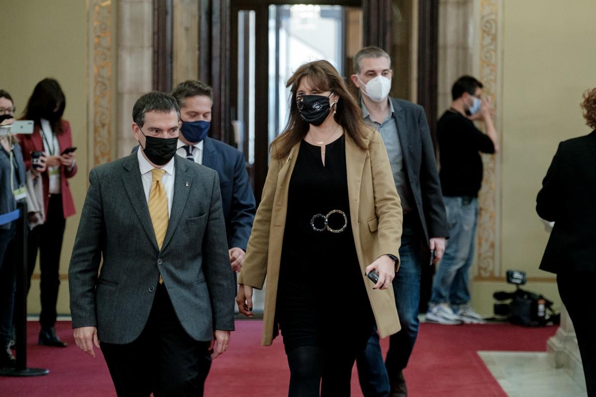 Jaume Alonso-Cuevillas i Laura Borràs, al Parlament