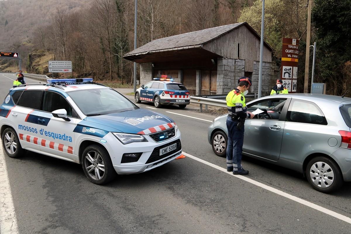Control de carretera dels Mossos d'Esquadra.
