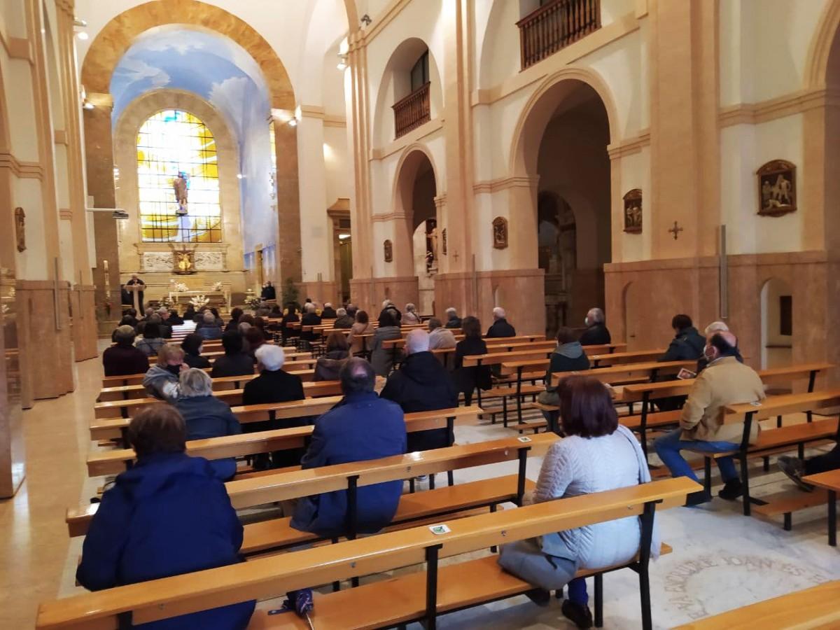 La parròquia de Sant Joan de Tarragona, aquest divendres al migdia, per homenatjar Arcadi Oliveres.