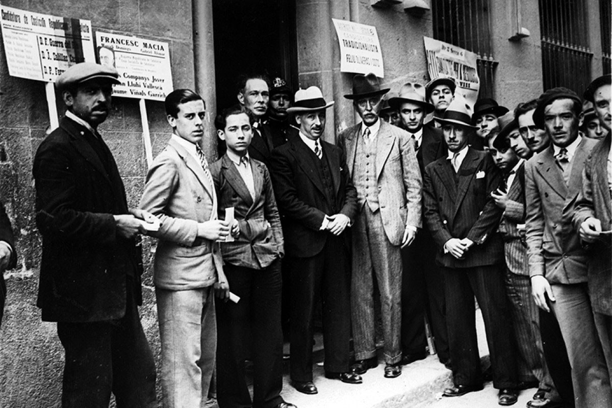 Francesc Macià amb Lluís Companys durant la campanya de les municipals del 1931