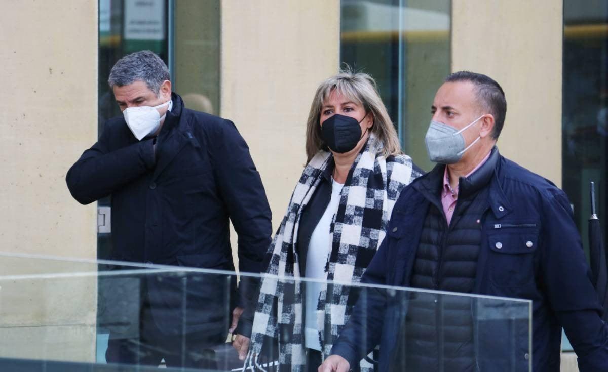 Núria Marín, arribant als jutjats de l'Hospitalet per declarar.
