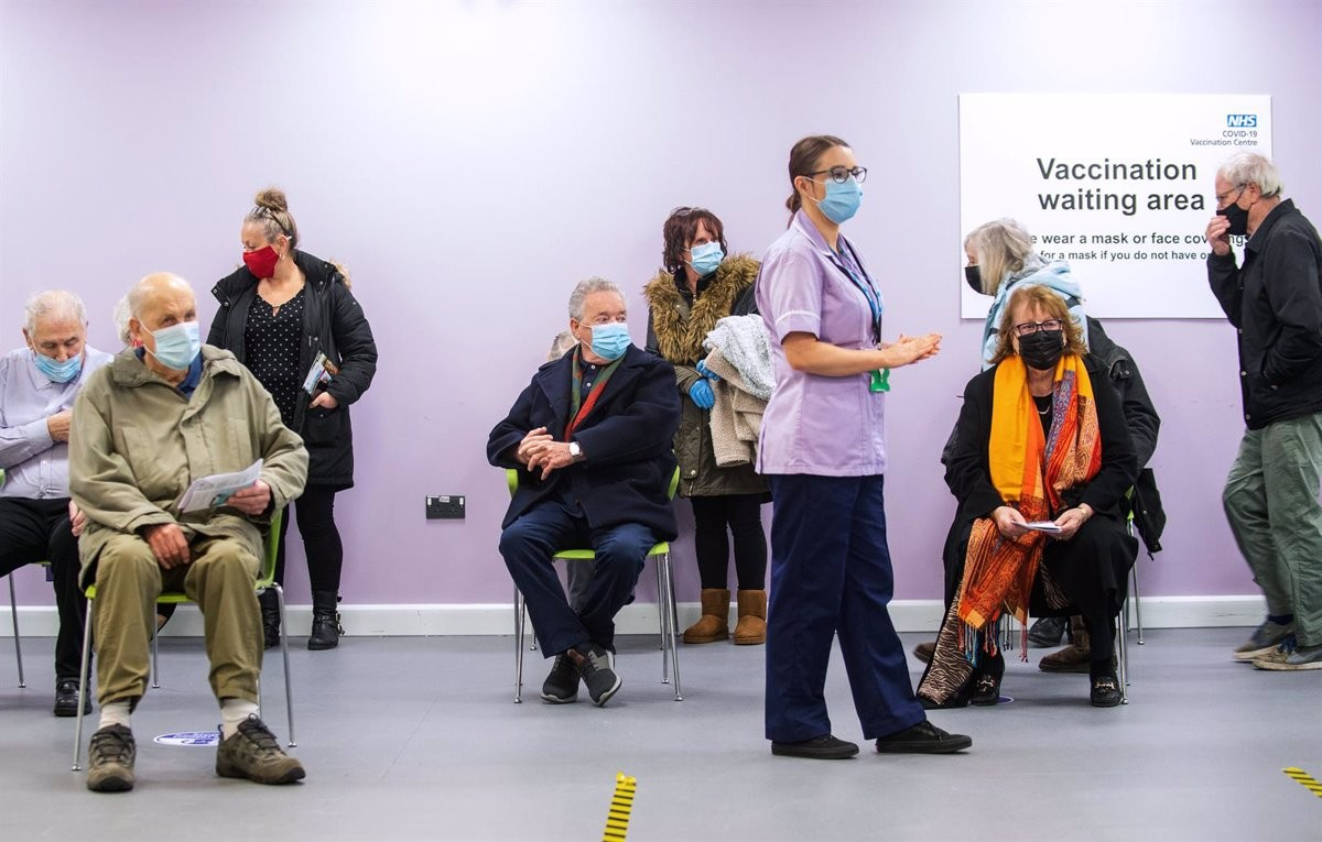 Un punt de vacunació al Regne Unit
