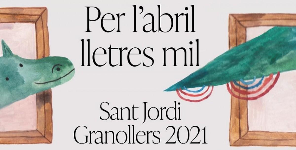 Detall del cartell del Sant Jordi 2021 a Granollers