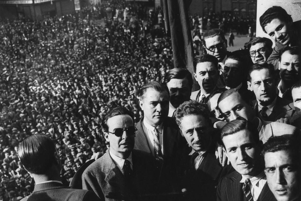 Lluís Companys, nou governador civil de Barcelona, a l'Ajuntament