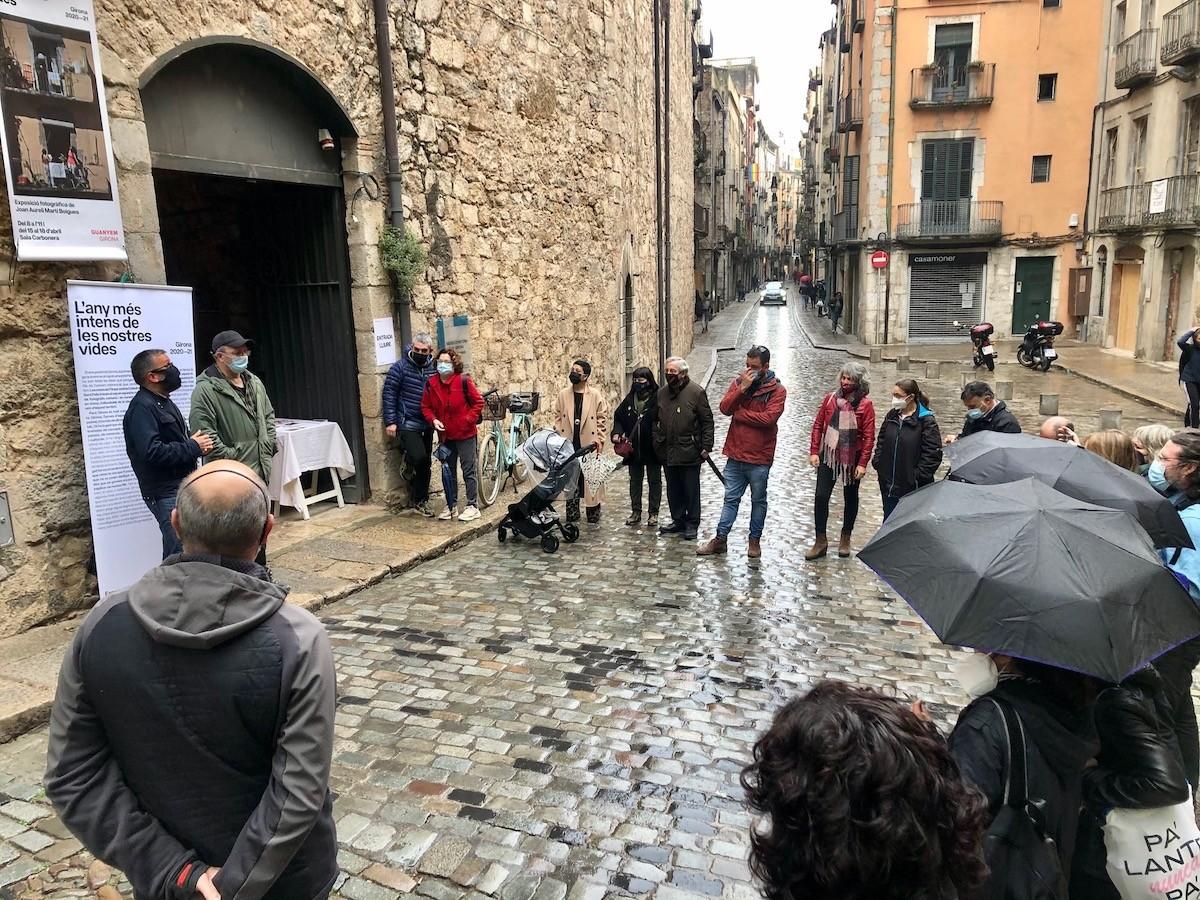 Un moment de la inauguració a La Carbonera de Girona.
