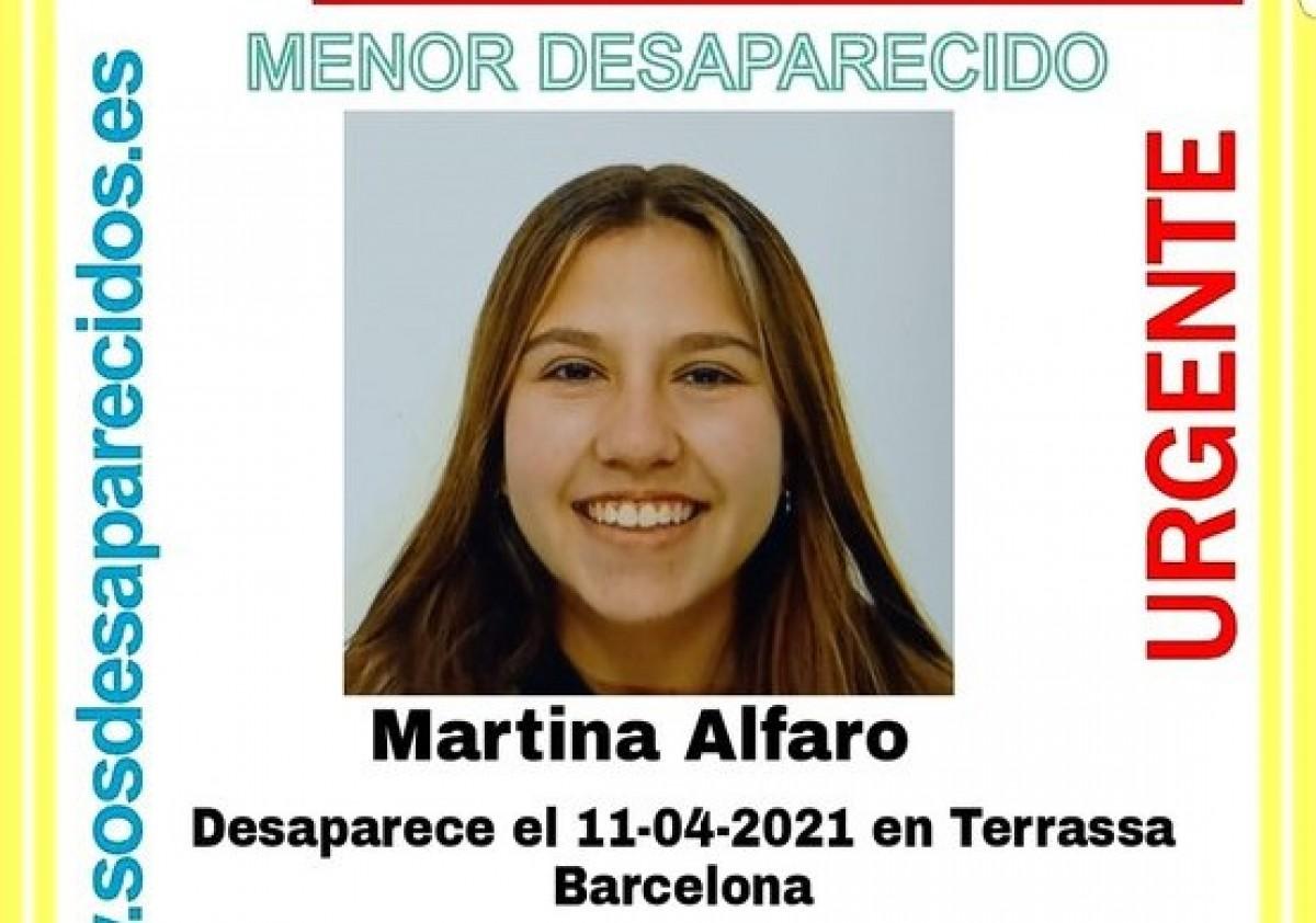 La Martina Alfaro ha desaparegut a Terrassa diumenge 11 d'abril.