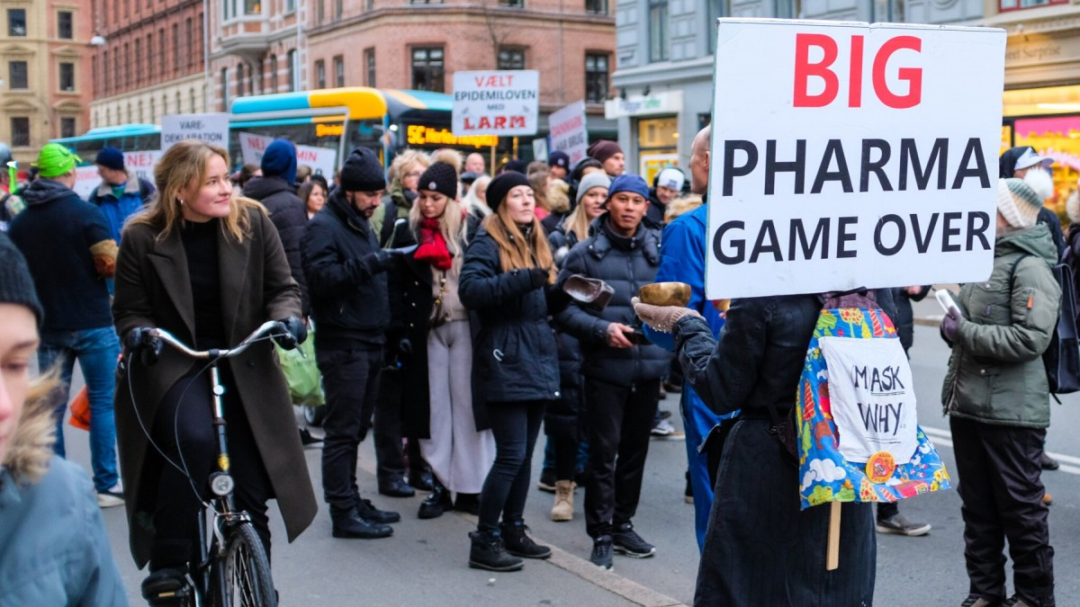 Manifestació anti-vacunes a Copenhagen el desembre de l'any passat.