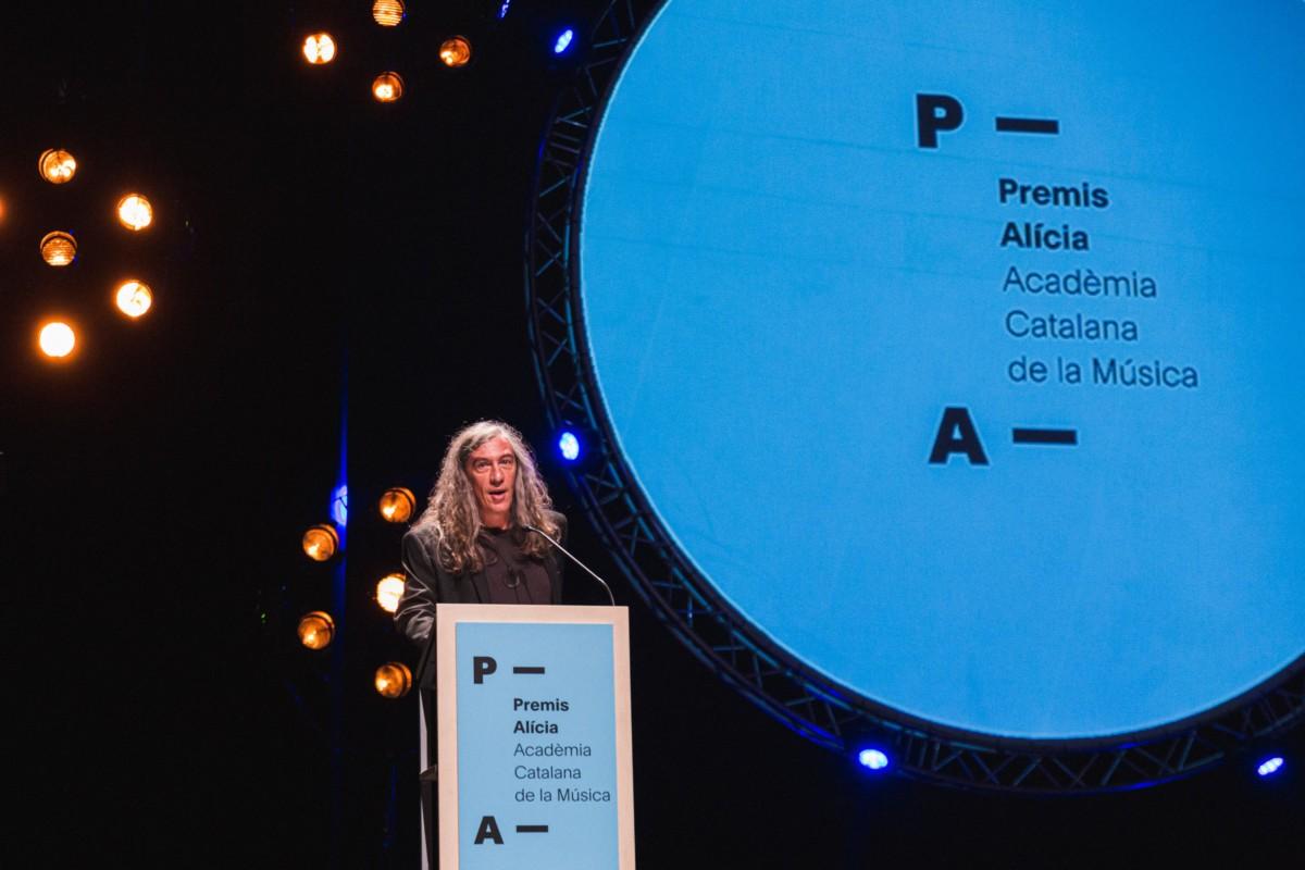 El president de l'Acadèmia de la Música Catalana, Gerard Quintana, als Premis Alícia