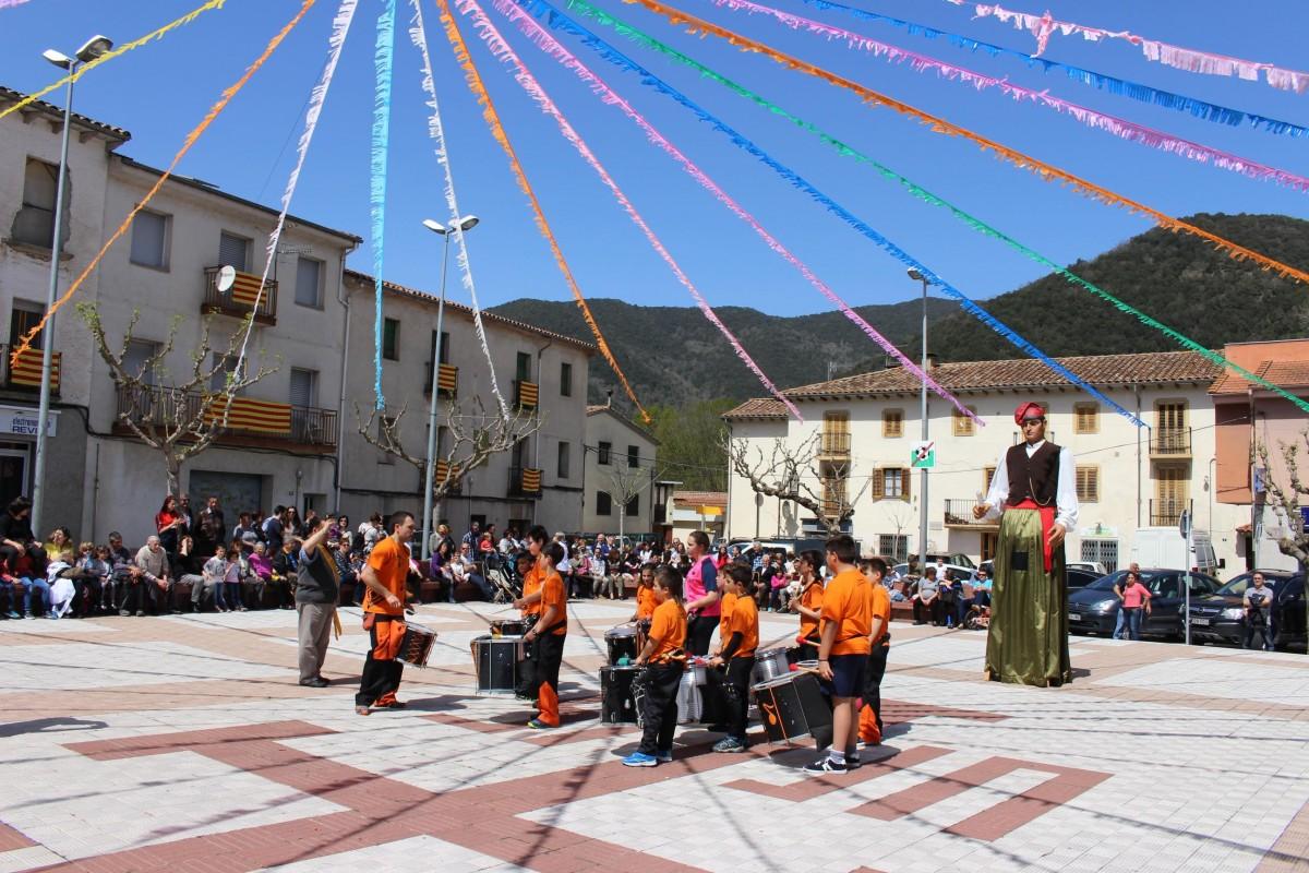 Imatge retrospectiva de la Festa del Roser a Sant Joan les Fonts.
