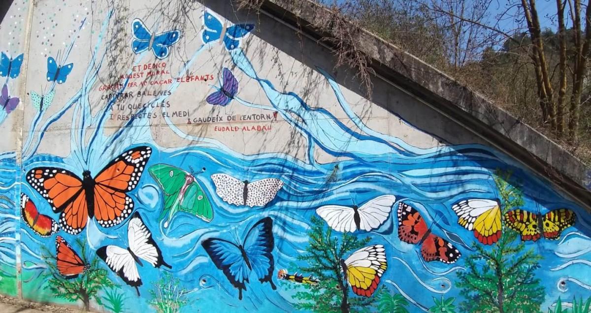 Un detall del mural