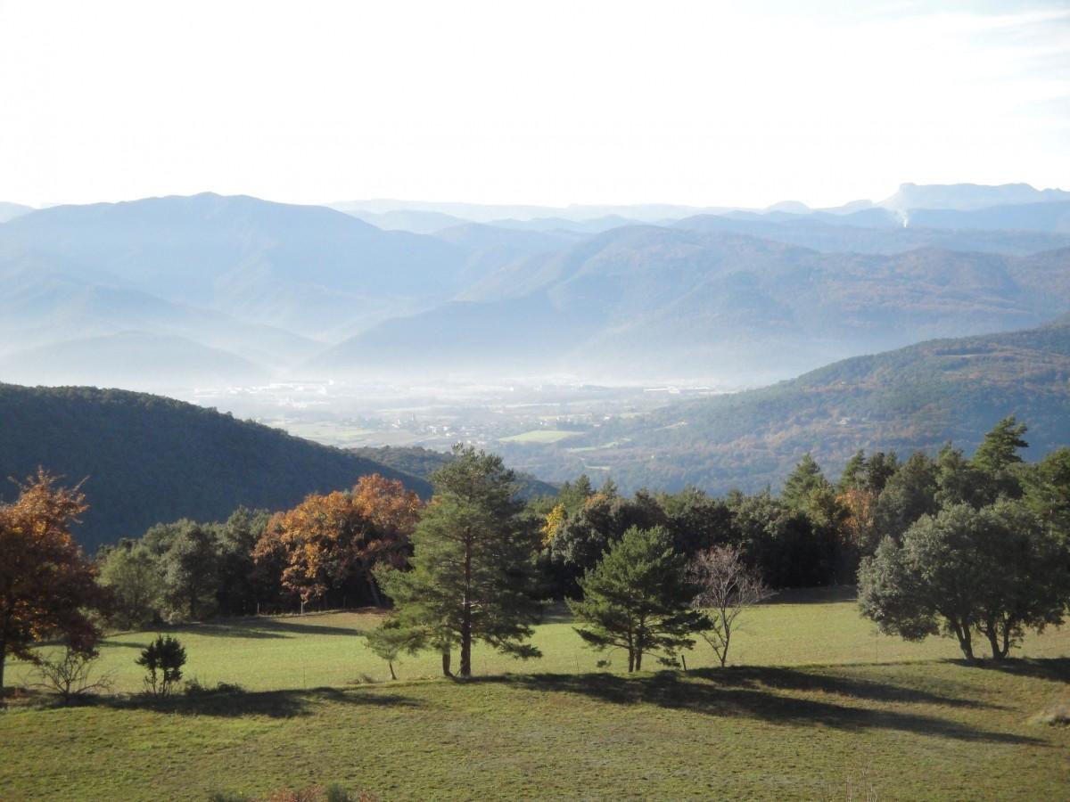 Paisatge natural de l'Alta Garrotxa.