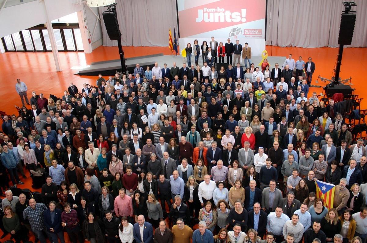 Presentació de les candidatures de Junts per Catalunya a les municipals del 2019.