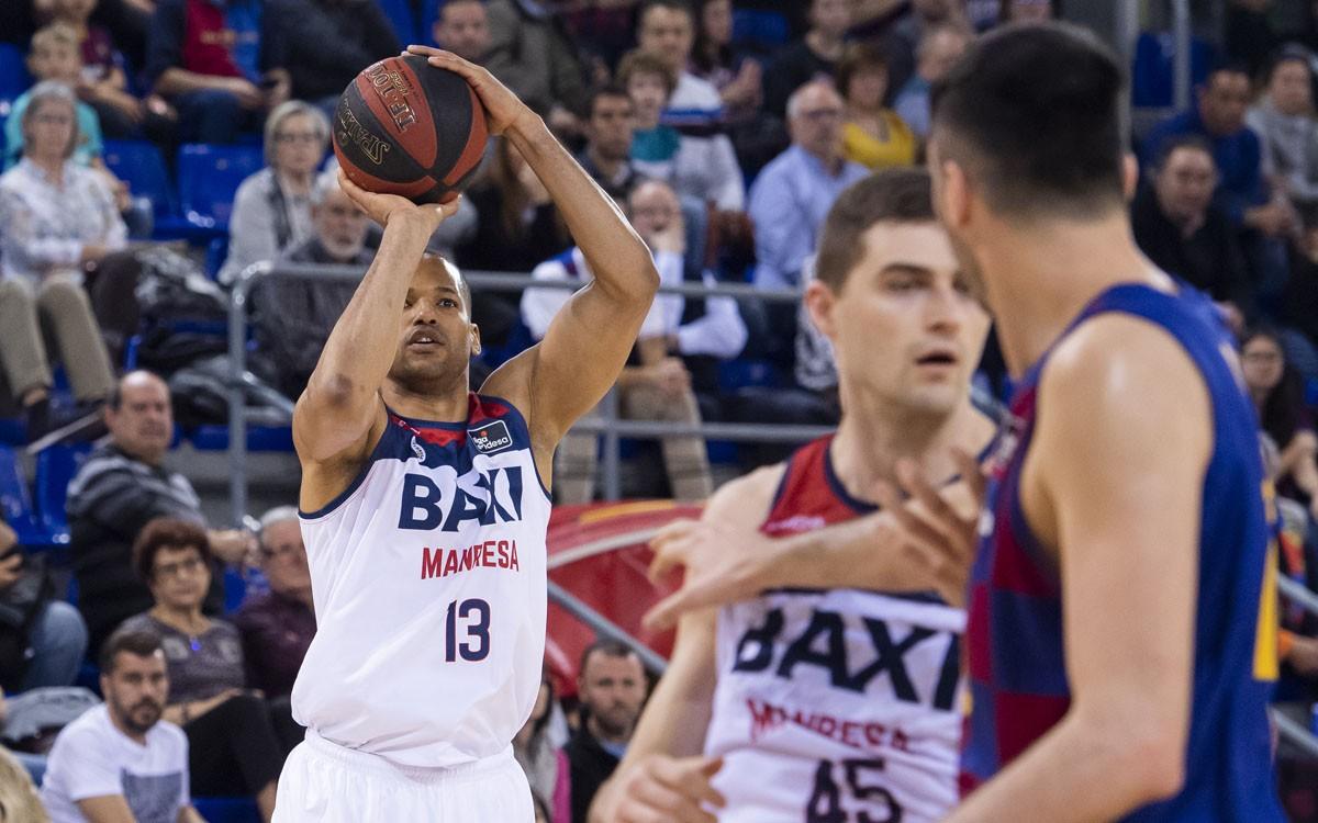 Eulis Báez durant el Barça - BAXI Manresa de la temporada passada