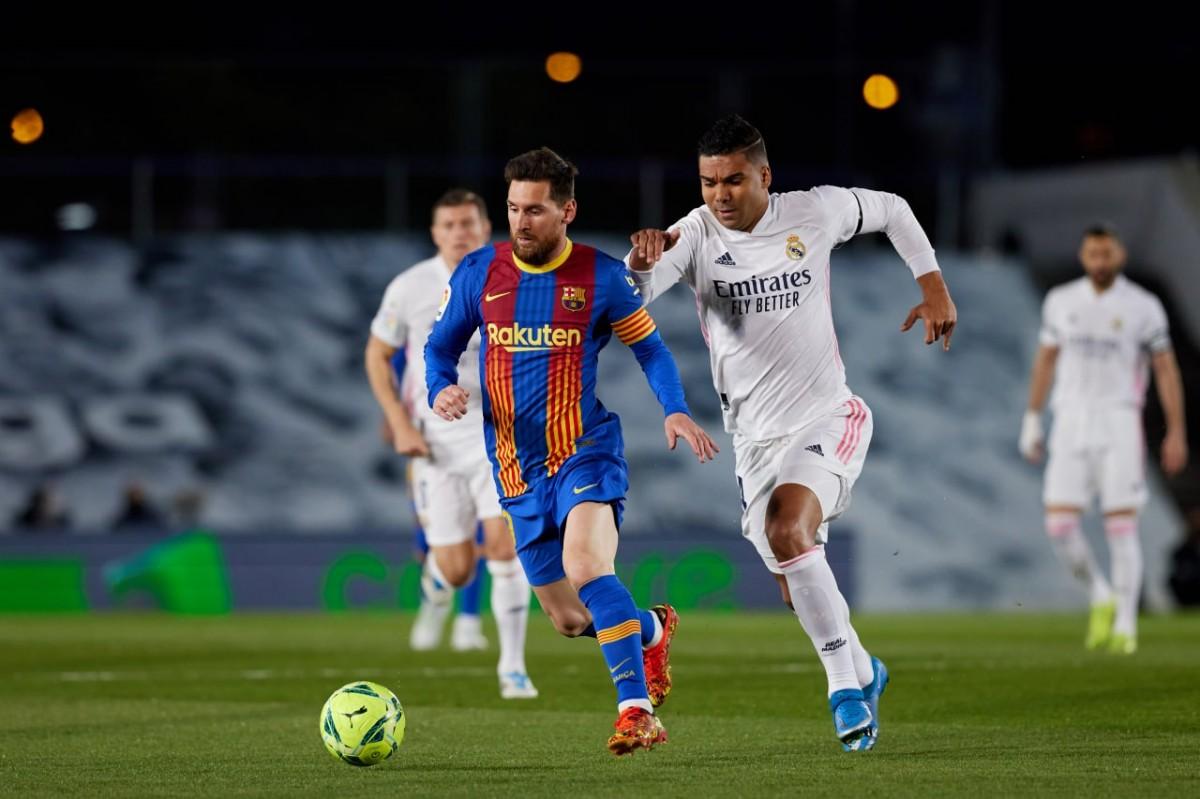 Messi i Casemiro, en un clàssic