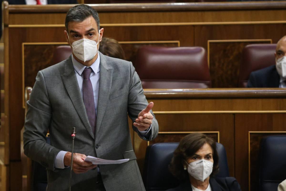 Pedro Sánchez, en una compareixença recent al Congrés.