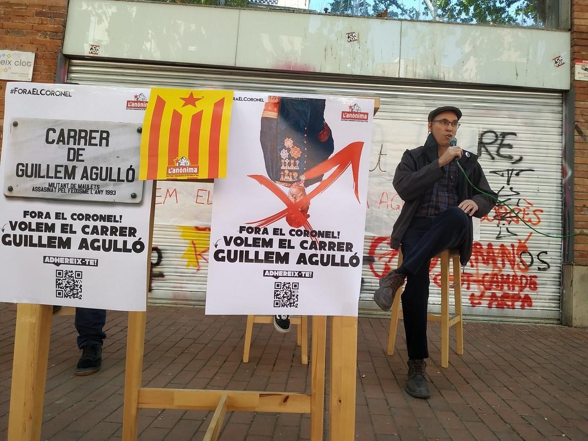 Presentació de la campanya Fora el coronel