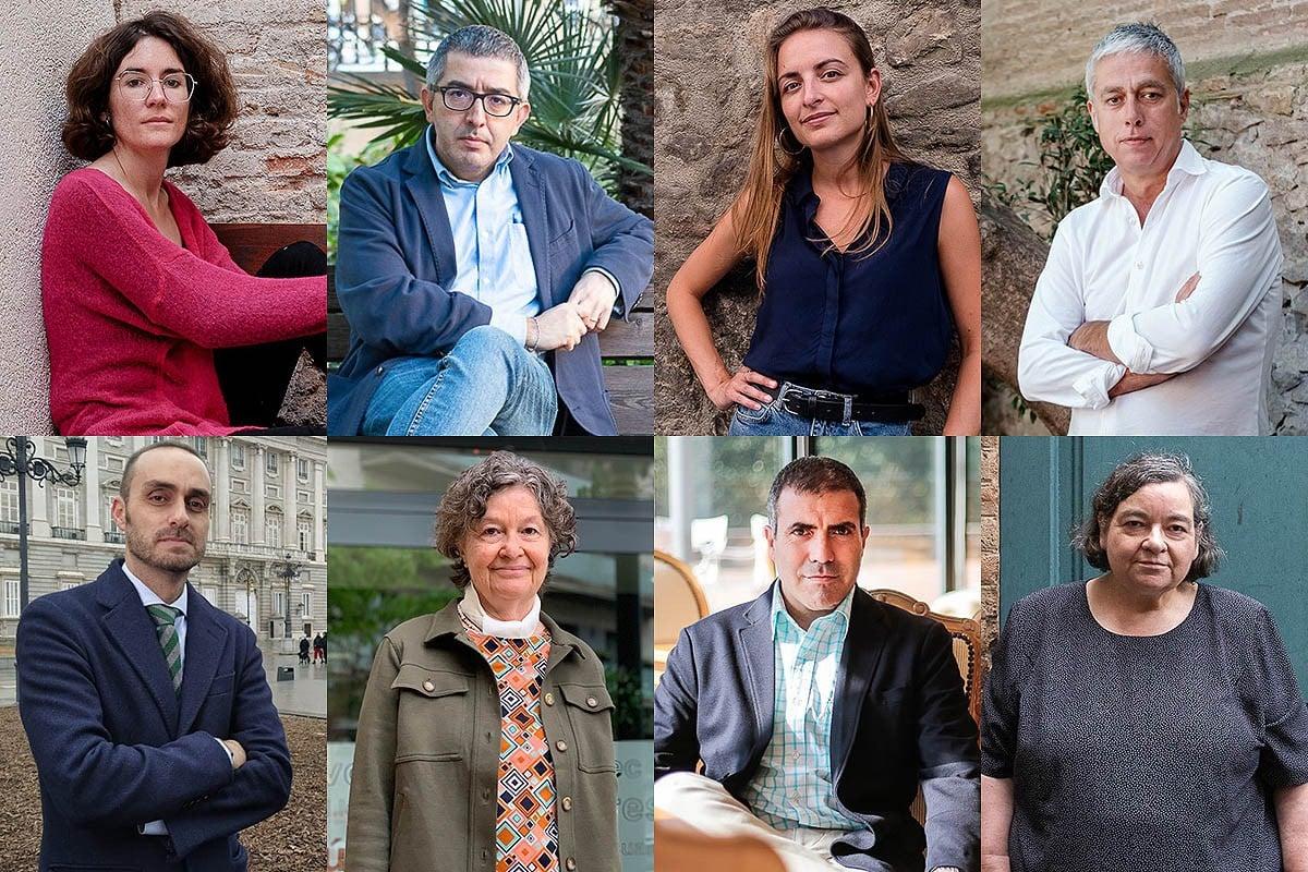Irene Pujadas, Jordi Amat, Irene Solà, Albert Om, Albert Calatrava, Maria Barbal, Francesc Serés i Carme Junyent.