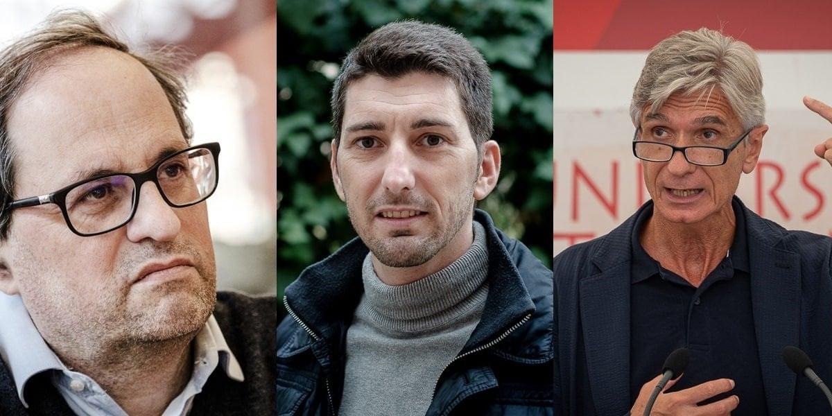 Oriol Mitjà, Josep Maria Argimon i Quim Torra.