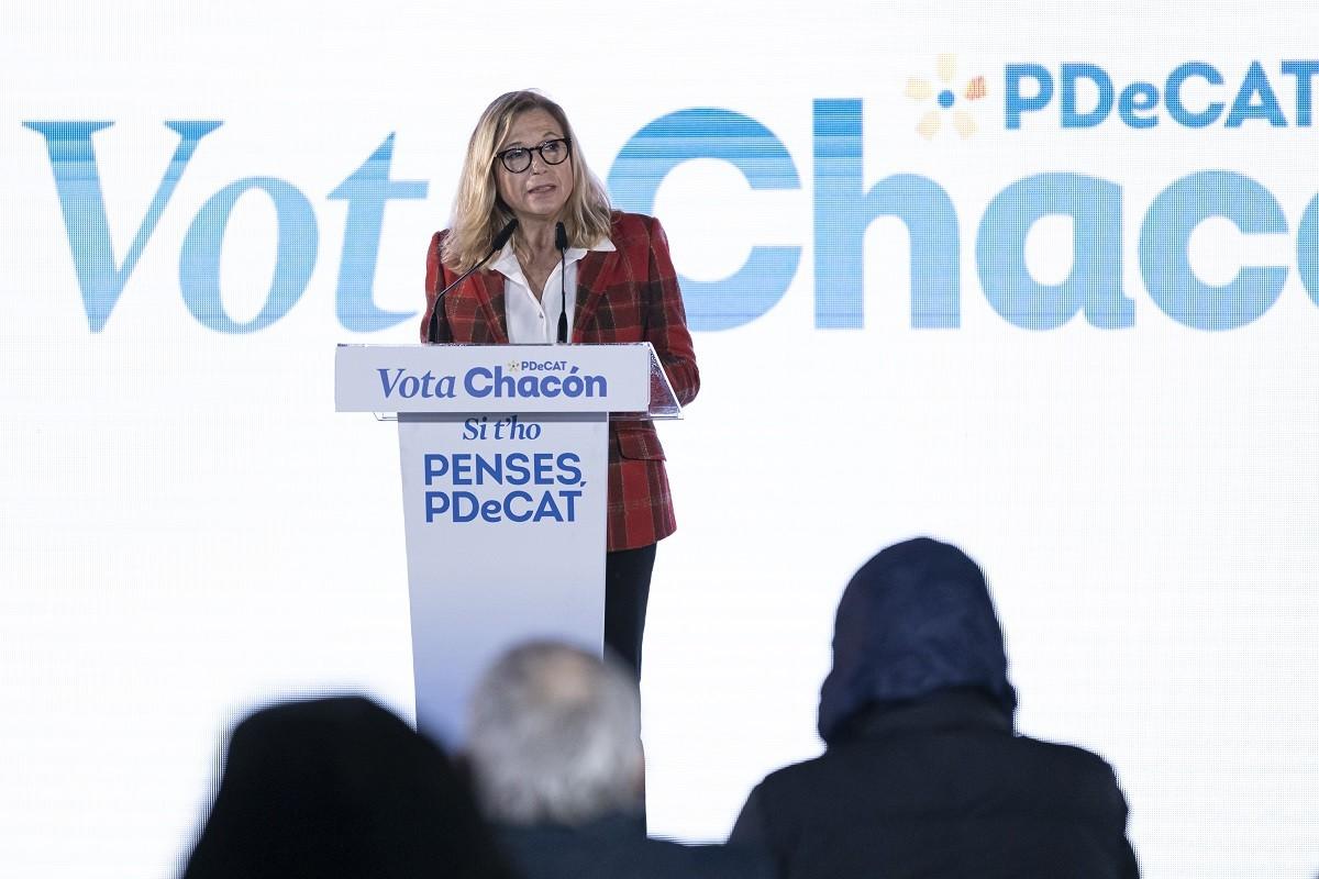 Joana Ortega, en un acte de campanya.