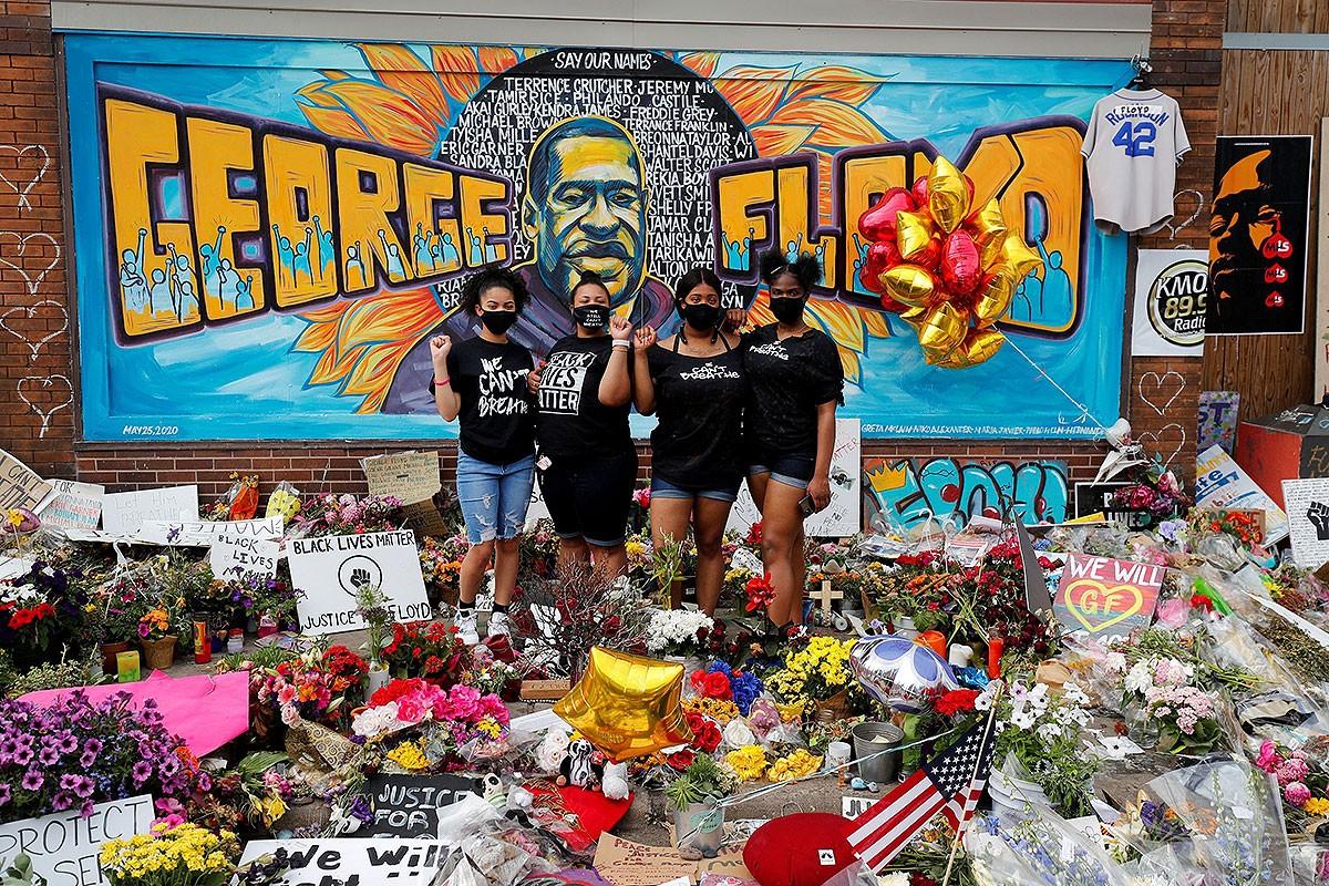 Memorial en record de George Floyd