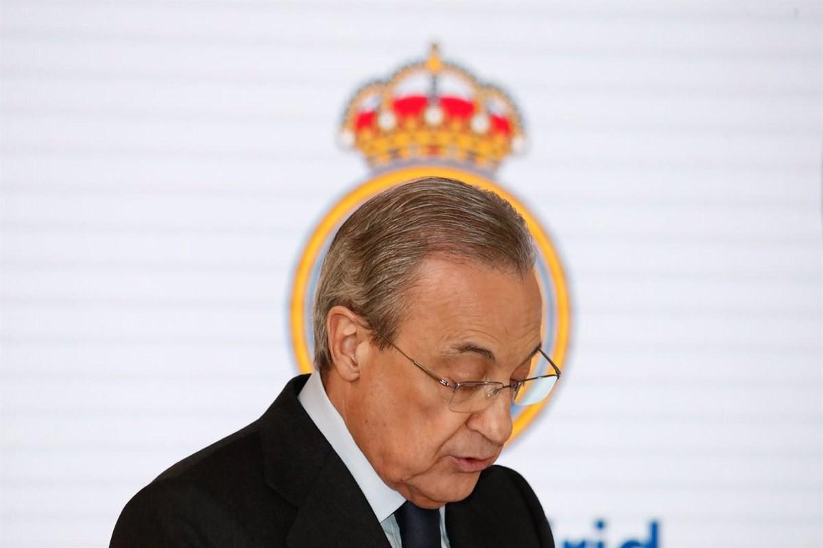 Florentino Pérez, president del Reial Madrid i la Superlliga, en una imatge d'arxiu.