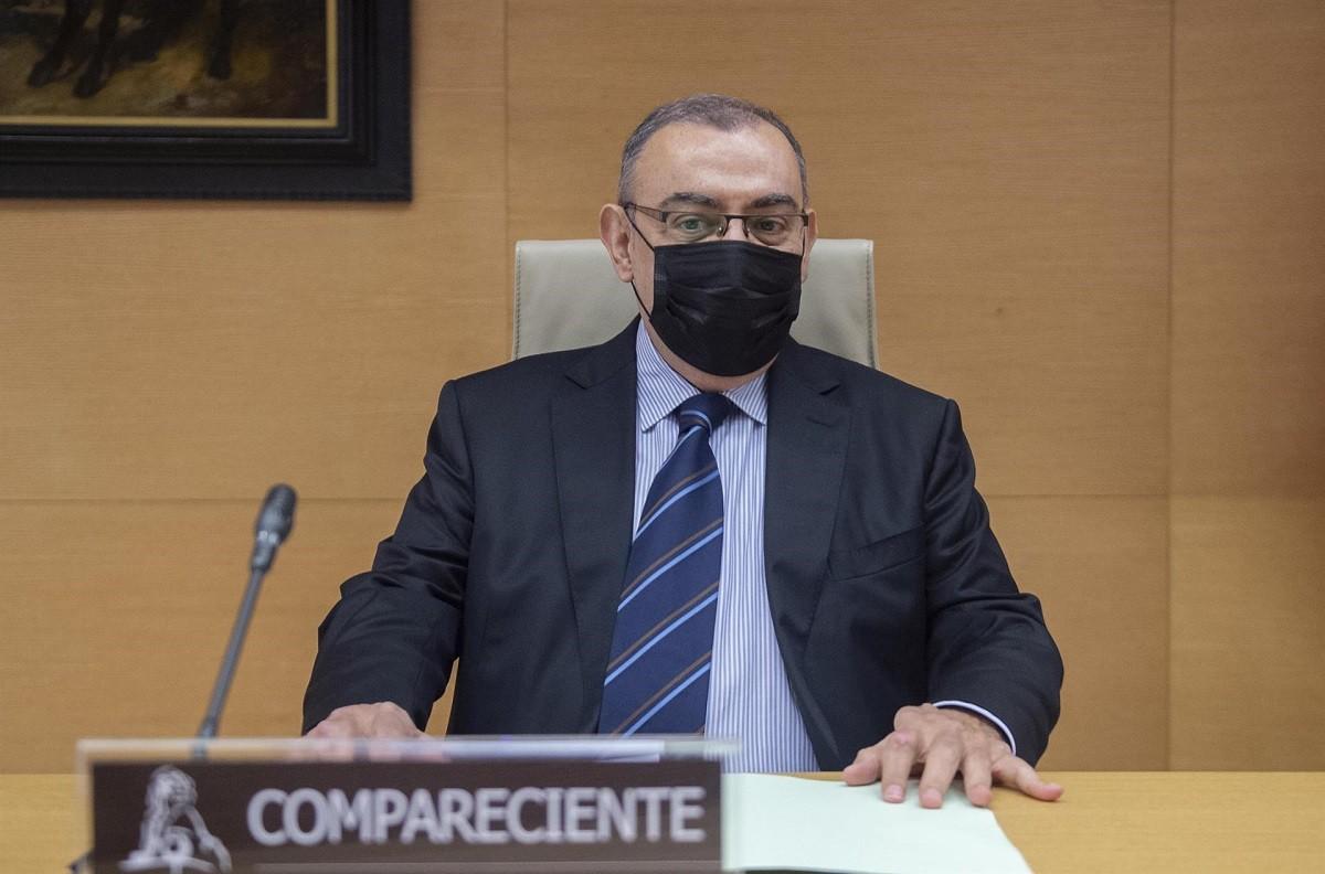 Enrique García Castaño, en la compareixença al Congrés.