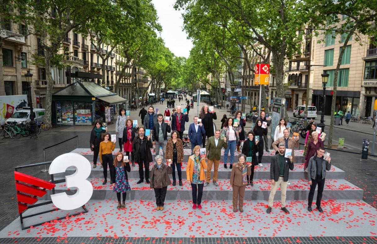 TV3 va realitzar aquest 23 d'abril l'anomenada «foto de Sant Jordi».