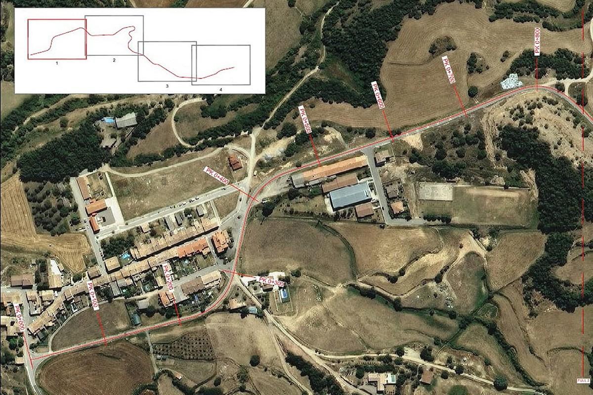 El projecte d'eixamplament i millora de revolts a la BV-4342, al Lluçanès, té un cost de més de 824.000 euros.