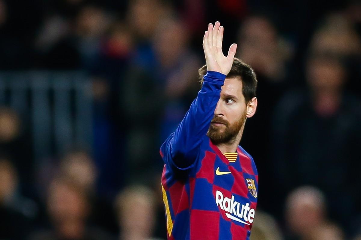 Leo Messi al Camp Nou.