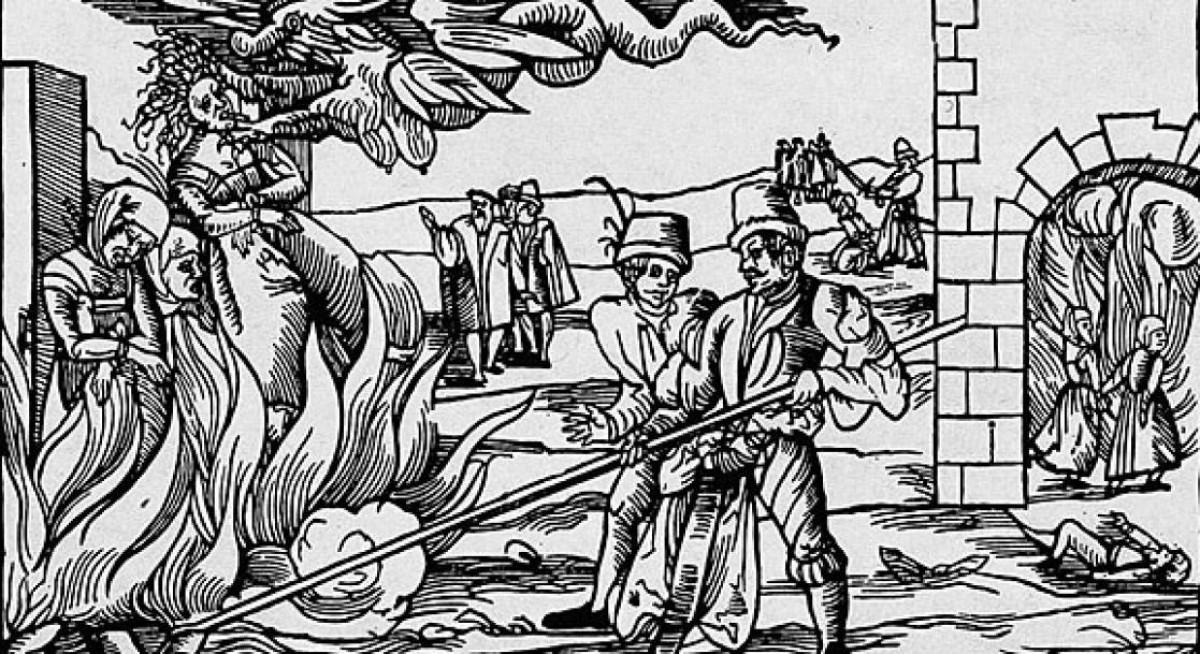 Il·lustració d'una caça de bruixes.