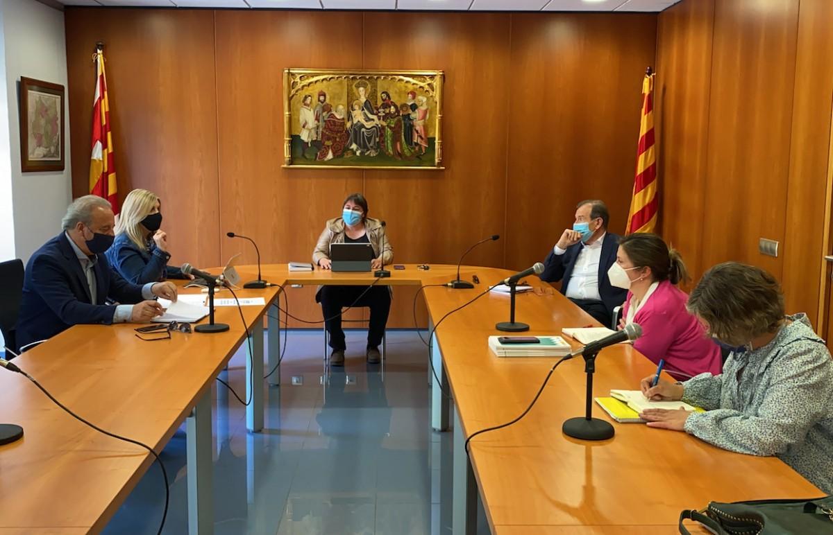 Imatge de la trobada mantinguda aquest dimecres a Puigcerdà