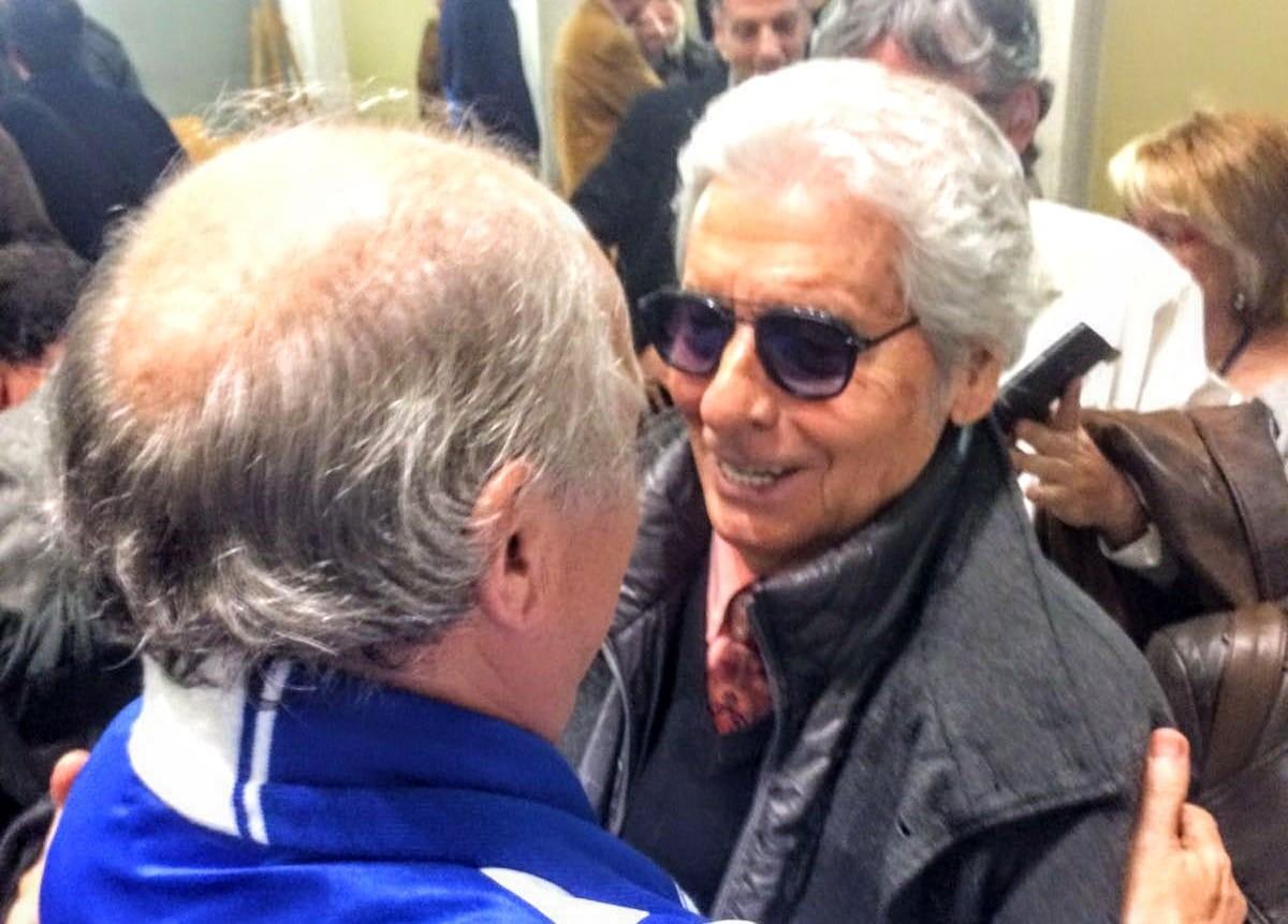 Antoni Gausí amb un seguidor del Lleida