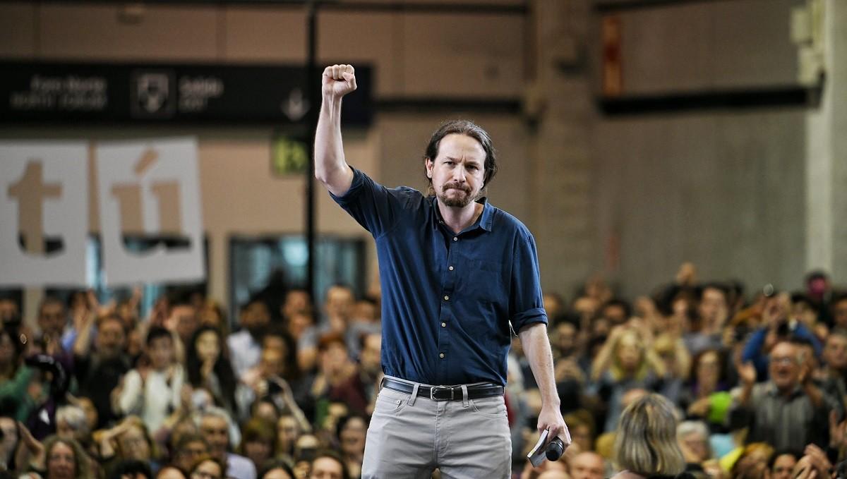 Pablo Iglesias, en un míting de Podem.