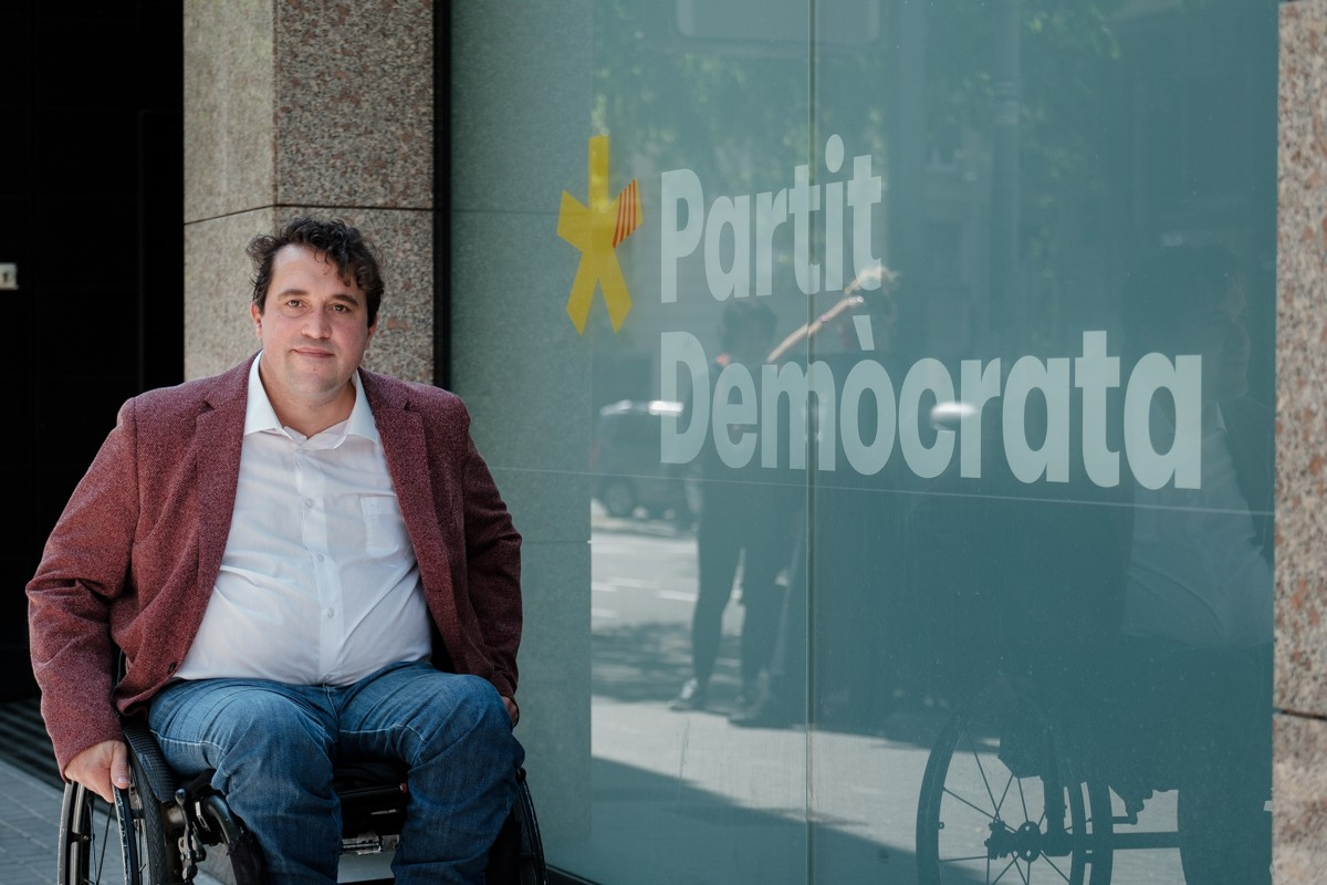 David Bonvehí, a la seu del PDECat.