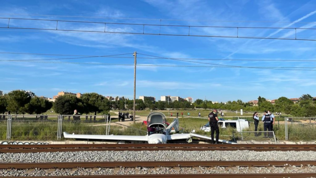 L'avioneta estavellada prop de l'aeroport de Sabadell