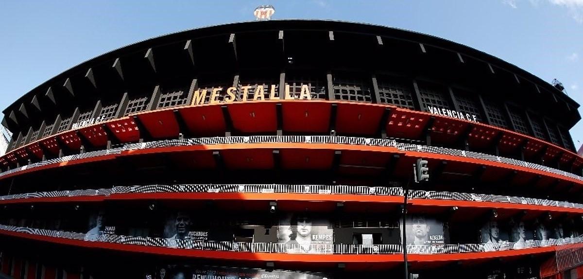 L'estadi del València.